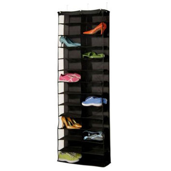 26 Pocket Shoe Rack Storage Organizer Holder, Folding Door Closet