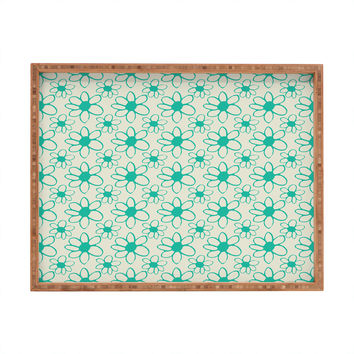 Allyson Johnson Mod Flowers Rectangular Tray