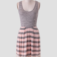Sweet Apricot Striped Dress