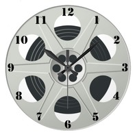 FILM REEL Wall Clock