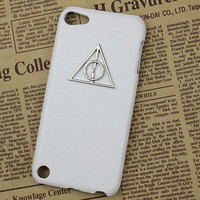 Deathly Hallows Harry Potter And White Hard Case Cover for Apple Ipod Touch 5, iPod Touch 5th,iTouch 5,iPod Touch 5