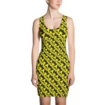 Pattern Crown Logo (Yellow Jacket) Dress