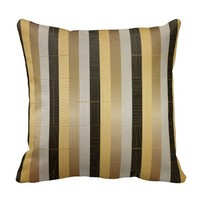 Black, Bronze, Silver and Gold Stripes Pillows