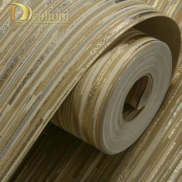 Modern Glitter Luxury 3d Striped Wallpaper For Walls Bedroom Living room Backgrounds Decor Non-Woven Home Wall paper Rolls