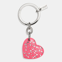 C.O.A.C.H.lucite heart key ring
