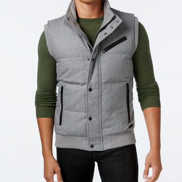 GUESS Mens Carter Quilted Vest