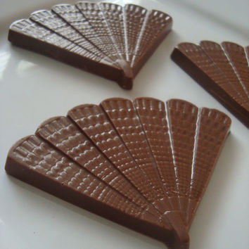 12 Chocolate Fan Favors Spanish Mexican Japanese Geisha Wedding Anniversary
