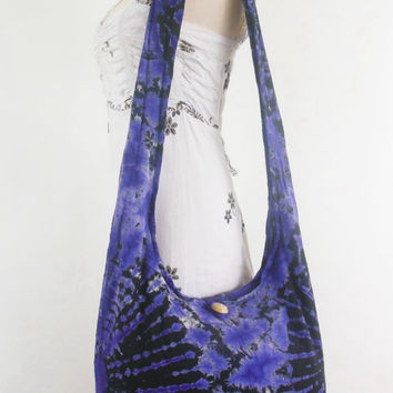 Firework Tie dye bag bohemian women bag gypsy Hippie Hobo Boho Bag Crossbody bag Sling Cotton Shoulder Messenger bag Tote Purse Handbags
