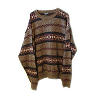 Indie Tumblr Tribal Hipster Sweater NEW with Tags! Jantzen Brand