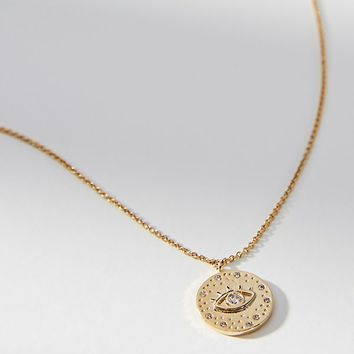 Starry-Eyed Coin Necklace