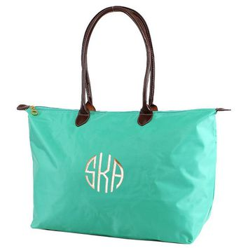 "MM Monogrammable Nylon 21""Nylon Tote Bag 