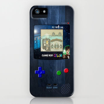 Retro Tardis Doctor Who Nintendo Gameboy apple iPhone 4 4s, 5 5s 5c, iPod 4,5 & samsung galaxy s4 case cover
