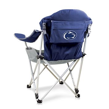Penn State Nittany Lions Reclining Camp Chair-Navy Digital Print