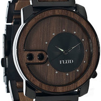 The Exchange Watch in Oak Wood