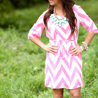 Chevy Chic Neon Tie Dress