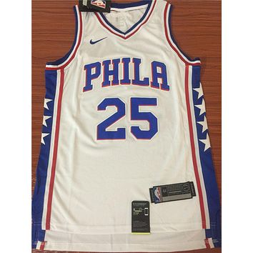 Philadelphia 76ers #25 Ben Simmons £×hite Basketball Jersey | Best Deal Online