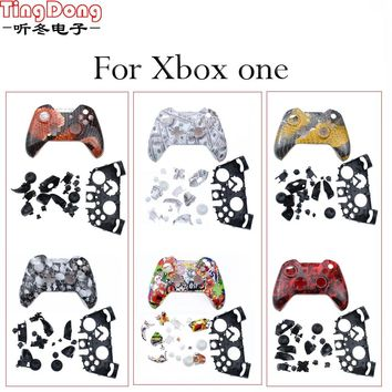 TingDong for Xbox One Wireless Controller Hydro Dipped Bomb Sticker Case Replacement Housing Front + back Shell
