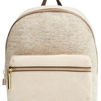 Women's Elizabeth and James 'Cynnie' Suede & Wool Backpack - Grey