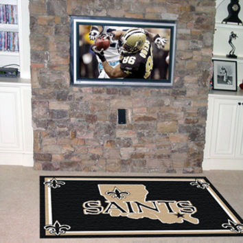 New Orleans Saints 4x6 Rug