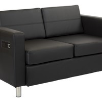Office Star Black Atlantic Loveseat