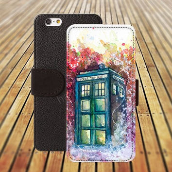 door watercolor colorful iphone 5/ 5s iphone 4/ 4s iPhone 6 6 Plus iphone 5C Wallet Case , iPhone 5 Case, Cover, Cases colorful pattern L044