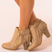 Chimney Rock Booties in Taupe