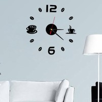 Fashion Trendy Removable Diy Acrylic 3D Mirror Wall Sticker Decorative Clock