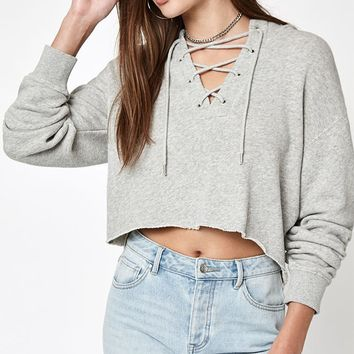 LA Hearts Lace-Up Hoodie at PacSun.com