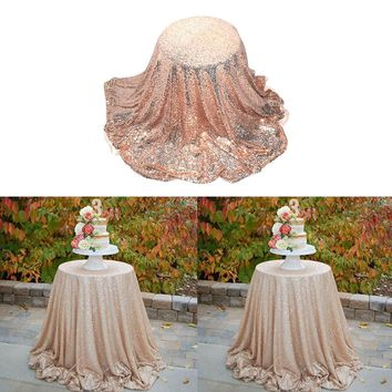Sparkly Sequin Round Circle Table Cover Tablecloth Wedding Event Decor