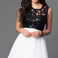 Sleeveless A-Line Dress by Sequin Hearts