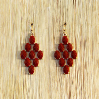 Drops of Wine Earrings