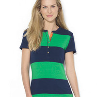 Lauren Ralph Lauren Short-Sleeve Striped Henley