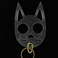 The Cat Keychain -Clear