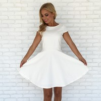 Give Praise Nylon Babydoll Dress In White