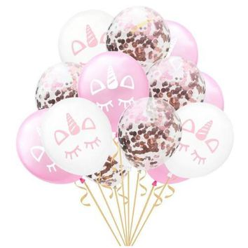 20pcs 12inch Rose Gold Latex Balloons Confetti Balloon Unicorn Party Decoration babyshower Birthday Party Princes Supplies