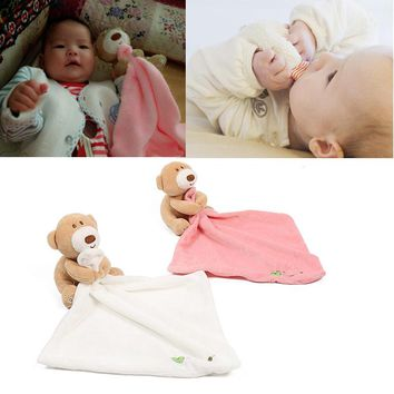 Newborn Baby Toys Cute Bear Scarf Handkerchief appease Towel Rattles Crap Doll Gift For Soothe Calm Towel Educational Plush Toy
