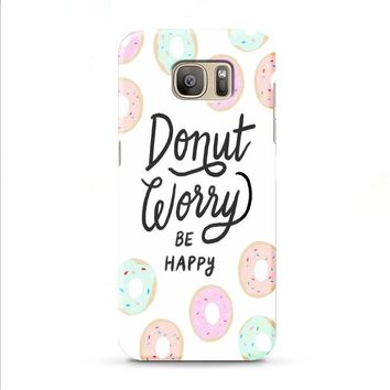 donut worry be happy Samsung Galaxy J7 2015 | J7 2016 | J7 2017 case
