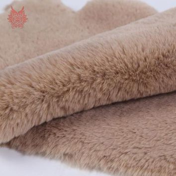 13 Colors solid 2cm faux fur fabric rabbit hair plush imitation fur fabric tissue telas tecidos stoffen 160*50cm 1piece SP4372