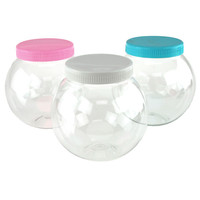 Round Plastic Favor Container w/ Lid, Large