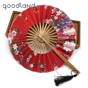 Shipping Quality Delicate Packaging Chinese Flower Bamboo Folding Wedding Christmas Party