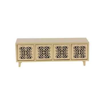 Isabella Wood Gold Color Jewelry Chest