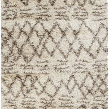 Rhapsody Shag Area Rug Neutral, Brown