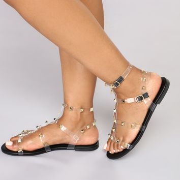 Resort Stay Sandals - Black