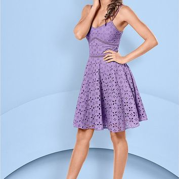 Eyelet Dress in Light Violet | VENUS