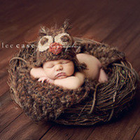 Fuzzy Brown Owl Hat and Blanket Combo  *Buy the set and save!* — Gracie's Garden Designs