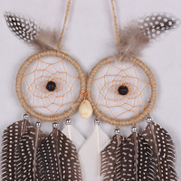 Owl Feather Home Decor Handcrafts Car Pendant [9613390543]