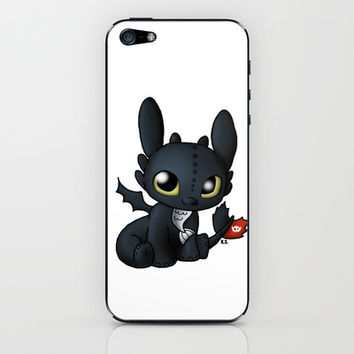 Chibi Toothless iPhone & iPod Skin by Katie Simpson