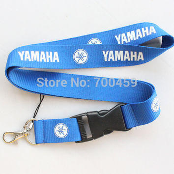 New 20pcs  Blue motorcycle Logo Lanyard/ MP3/4 cell phone/ keychains /Neck Strap Lanyard  Free shipping