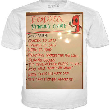 Deadpool Drinking Game T-Shirt