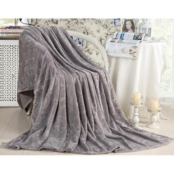 Decor Soft Warm Micro plush Throw Blanket Rug Plush Fleece Sofa Bed Big 1.8m X 2m